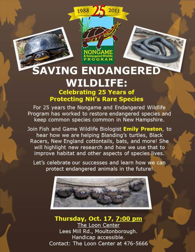 Oct flyer LRA SAVING ENDANGERED WILDLIFE