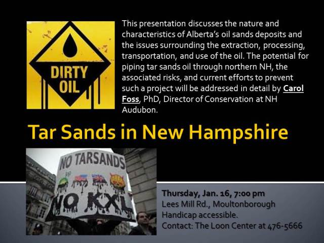 Tar Sands in New Hampshire