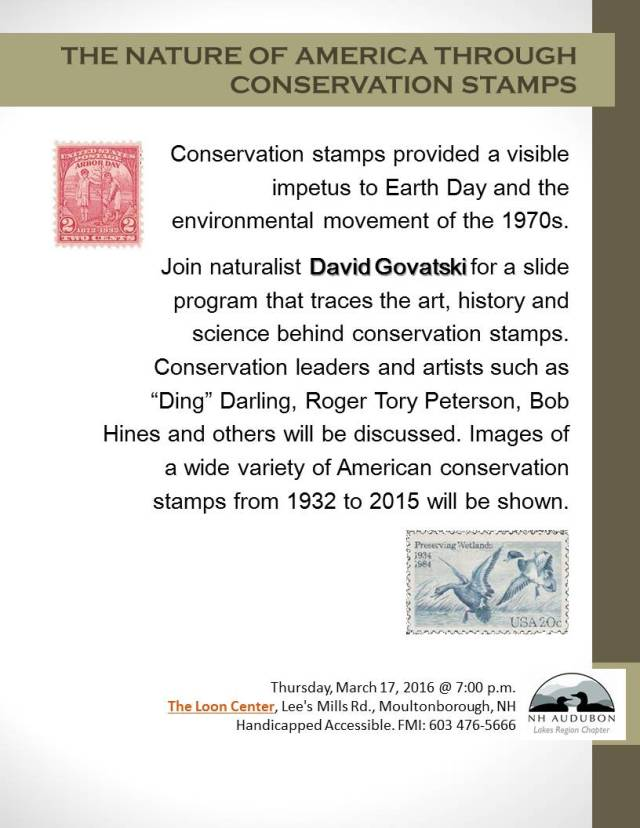 Conservation stamps flyer